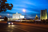 White House on Embankment of the Moskva River in Moscow, Russia — Stock Photo