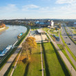Aerial view of VistulRiver — Stock Photo #41829953