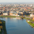 Aerial view of VistulRiver — Stock Photo #41829957
