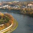 Aerial view of VistulRiver — Stock Photo #41829961