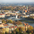 Aerial view of VistulRiver — Stock Photo #41829965