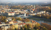 Aerial view of the Vistula River — Stock Photo