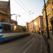 One of streets in historical center of Krakow. — Stock Photo #41830143