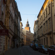 One of streets in historical center of Krakow. — Stock Photo #41830145