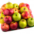 Fresh green, yellow and red apples — Stock Photo