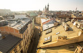 KRAKOW, POLAND  roofs of the old town in the centre. — Stock Photo
