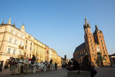 Carriages at Main Market Square. — Stock Photo
