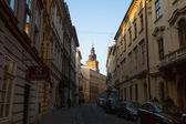 One of the streets in historical center of Krakow. — Foto de Stock