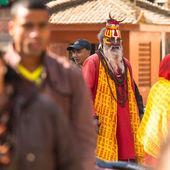 Unknown Sadhu Monk in Durbar Square — Stock Photo