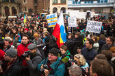 Participants demonstration in support of Independence Ukraine — Stock Photo