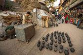 Nepalese man working — Stock Photo