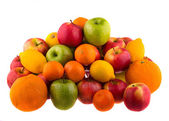 Lots of fruit piled in a heap — Stock Photo