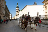 One of the streets in historical center of Krakow — Stok fotoğraf