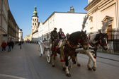 One of the streets in historical center of Krakow — Foto Stock
