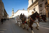 One of the streets in historical center of Krakow — ストック写真