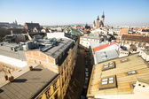Top View of the roofs of the old town in the centre of Krakow — Stock Photo