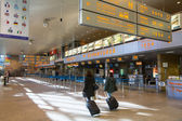 Terminal hall of John Paul II International Airport Krakow-Balice — Stock Photo