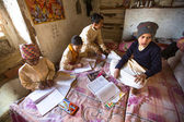 Children doing homework in Nepal school — ストック写真