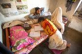 Children doing homework in Nepal school — Stock Photo