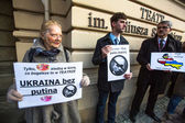 Anti russian protest in Cracow — ストック写真