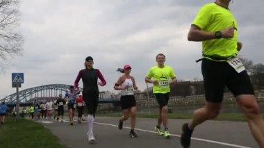 Krakow uluslararası maraton. — Stok video