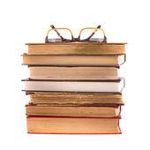 Books and glasses — Stock fotografie