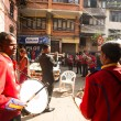 Musicians in Nepalese wedding — Stock Photo