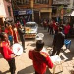 Musicians in Nepalese wedding — Stock Photo #44403803