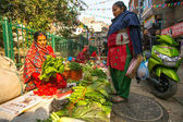 Street vendor in Kathmandu — Stock Photo