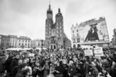 Demonstration on Main Square, Krakow — Stock Photo