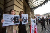 Protest against bringing Russian troops in the Crimea — Stok fotoğraf