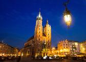 St. Mary's Church on Rynek Glowny — Stock Photo