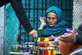 Street vendor in Nepal — Stock Photo