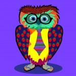 Cute Owl cartoon drawing — Stock Vector #44422847