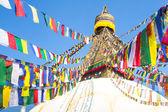 Bodhnath Stupa with Buddha Eyes — Stock fotografie