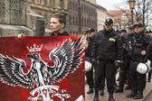 Unidentified participants IV Procession Katyn — Stock Photo