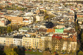 Aerial view of one of the districts in historical center of Krakow — Stock Photo