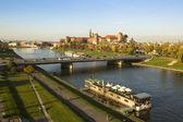 View of the Vistula River in the historic city center — Stock Photo