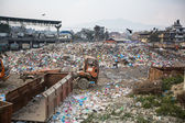 Pile of domestic garbage at landfills — Stock Photo
