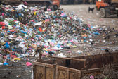 Pile of domestic garbage at landfills — ストック写真