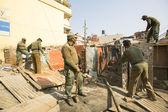 尼泊尔警察住宅贫民窟拆迁操作期间 — 图库照片