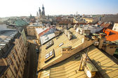 Top view of the roofs of the old town in the centre — Stock Photo