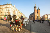 Carriages at Main Market Square — Stock Photo