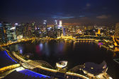 View of city from roof Marina Bay Hotel — Stock Photo