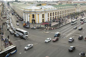 Top view of the Metro and mall Gostiny Dvor on Nevsky Prospect — Stock Photo