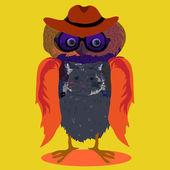Owl, vector illustration — Stock Vector