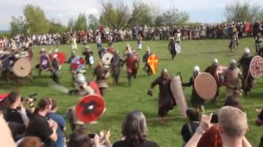 Rekawka - Polish tradition, festival historical reconstruction. — Stock Video