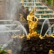Famous Samson and Lion fountain in Peterhof Grand Cascade — Zdjęcie stockowe #45246073