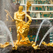 Famous Samson and Lion fountain in Peterhof Grand Cascade — Stock Photo #45246111