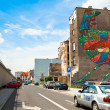 Graffiti murals by unknown artist created of the Katowice Street Art Festival — Stock Photo #45246465